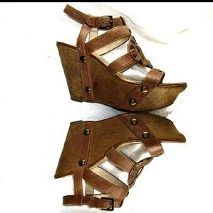 House Of Harlow 1960 Fannie Wedge Heels Sandals